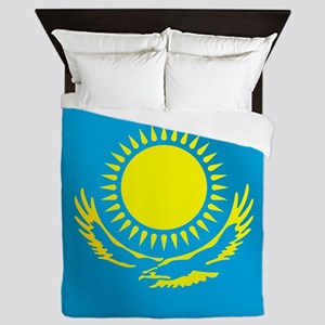 Flag of Kazakhstan Queen Duvet