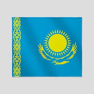 Flag of Kazakhstan Throw Blanket
