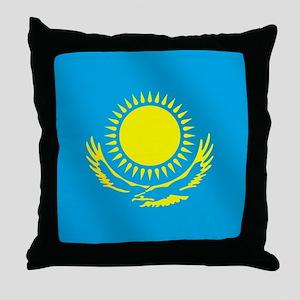 Flag of Kazakhstan Throw Pillow