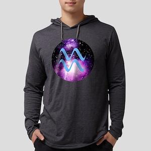 Aquarius Symbol Mens Hooded Shirt