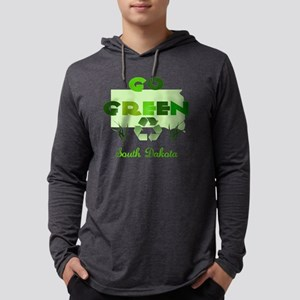 Go Green South Dakota Mens Hooded Shirt