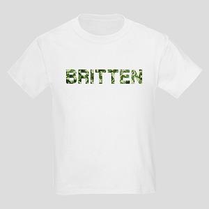 Britten, Vintage Camo, Kids Light T-Shirt