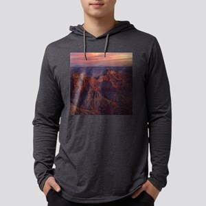 Bright Angel Sunset Mens Hooded Shirt