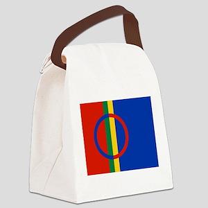 Flag of Sámi land Canvas Lunch Bag
