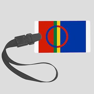 Flag of Sámi land Large Luggage Tag