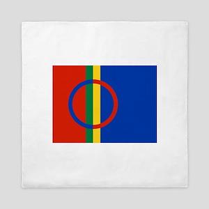Flag of Sámi land Queen Duvet