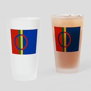 Flag of Sámi land Drinking Glass
