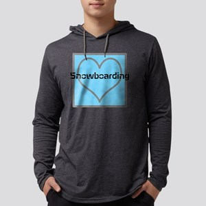 LOVE Snowboarding Mens Hooded Shirt
