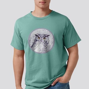 great horned owl Mens Comfort Colors Shirt