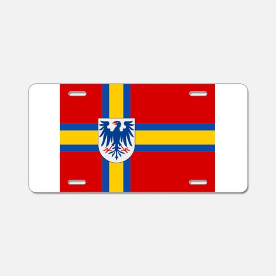 Flag of Värmland Aluminum License Plate