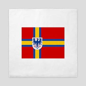 Flag of Värmland Queen Duvet