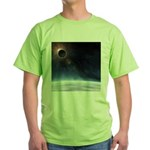 Outer Atmosphere of The Planet Earth Green T-Shirt