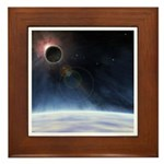 Outer Atmosphere of The Planet Earth Framed Tile