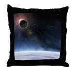 Outer Atmosphere of The Planet Earth Throw Pillow