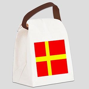Flag of Skåne Canvas Lunch Bag