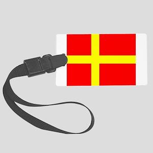 Flag of Skåne Large Luggage Tag