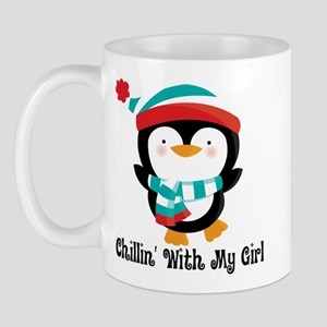 Chillin With My Girl Penguin Mug