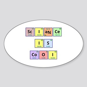 Science is Cool Sticker (Oval)