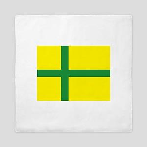 Flag of Gotland Queen Duvet