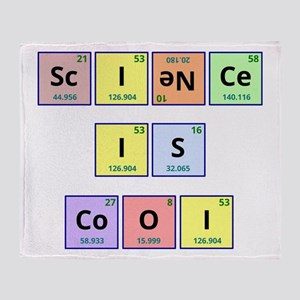 Science is Cool Throw Blanket