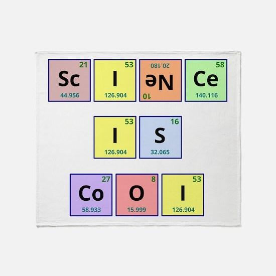 Science is Cool Throw Blanket