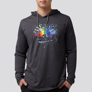Guitar Rainbow Mens Hooded Shirt