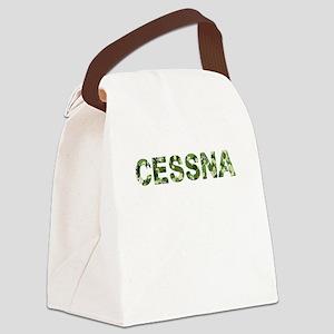 Cessna, Vintage Camo, Canvas Lunch Bag