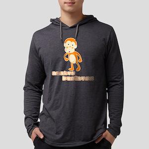 monkey_black Mens Hooded Shirt