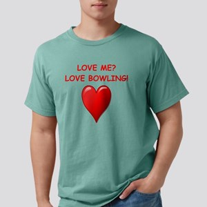 i love bpwling Mens Comfort Colors Shirt