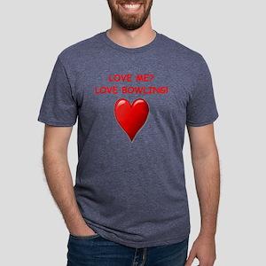 i love bpwling Mens Tri-blend T-Shirt
