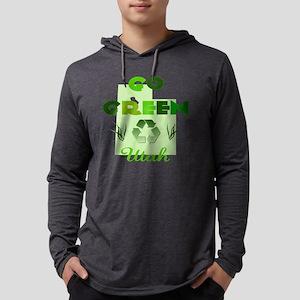 Go Green Utah Mens Hooded Shirt