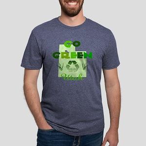 Go Green Utah Mens Tri-blend T-Shirt