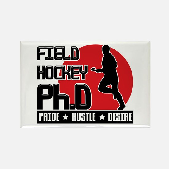 Field Hockey Ph.D Rectangle Magnet
