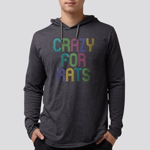 Crazy For Rats Mens Hooded Shirt