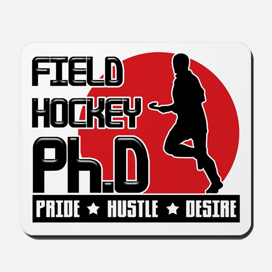 Field Hockey Ph.D Mousepad