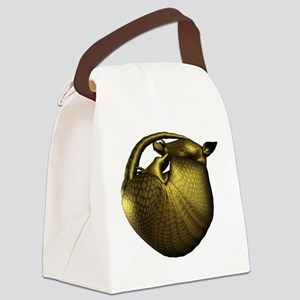 Sleeping Golden Armadillo Canvas Lunch Bag