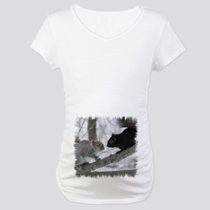 Black Squirrel Maternity T-Shirt