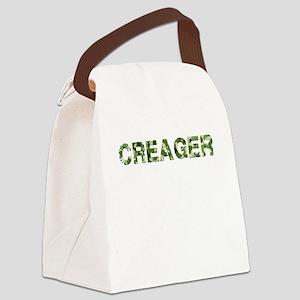 Creager, Vintage Camo, Canvas Lunch Bag
