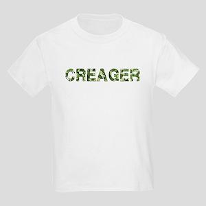 Creager, Vintage Camo, Kids Light T-Shirt