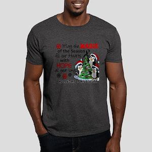 Holiday Penguins Melanoma Dark T-Shirt