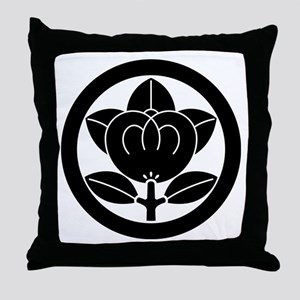 Mandarin orange in circle Throw Pillow