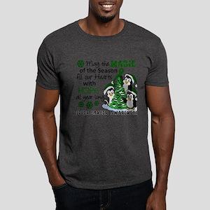 Holiday Penguins Liver Cancer Dark T-Shirt