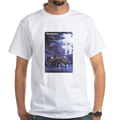 Chasmosaurus Dinosaur (Front) White T-Shirt