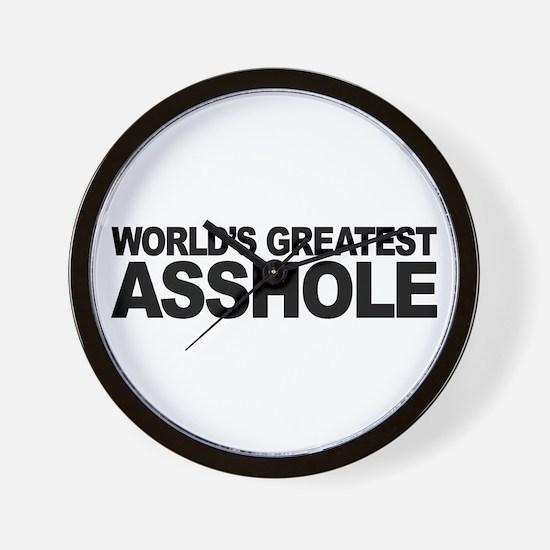 World's Greatest Asshole Wall Clock
