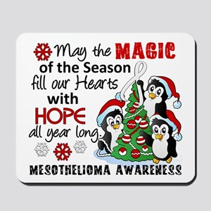 Holiday Penguins Mesothelioma Mousepad