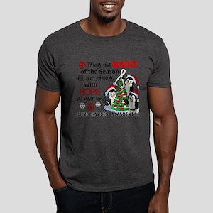 Holiday Penguins Lung Cancer Dark T-Shirt