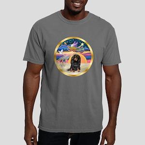 W-XmasStar-Dachs-LH-Blk. Mens Comfort Colors Shirt