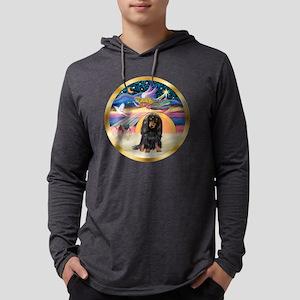 W-XmasStar-Dachs-LH-Blk Mens Hooded Shirt