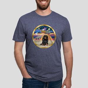 W-XmasStar-Dachs-LH-Blk Mens Tri-blend T-Shirt