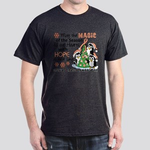 Holiday Penguins Uterine Cancer Dark T-Shirt